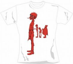 Gorillaz Murdoc Band Red (White, Womens, Size: M) (246346)