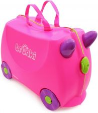 Trunki NO NAME Walizka Trixie różowa