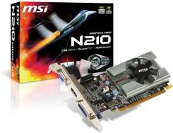 MSI GEFORCE 1GB 210 DDR3 64bit PCI-E (VN210-MD1G/D3)