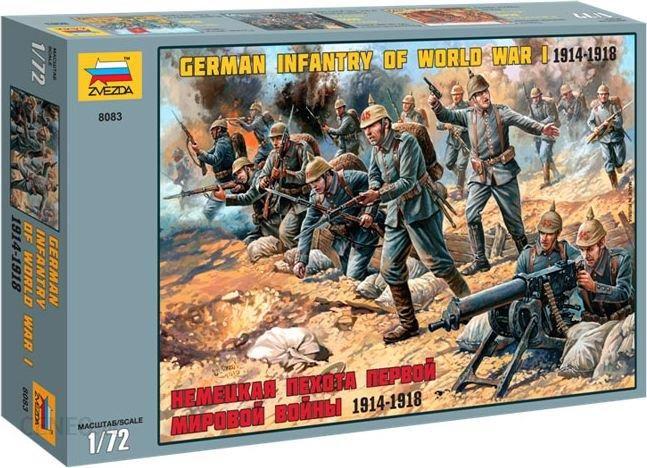 Zvezda Figurki German Infantry Wwi 8083
