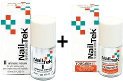 NAIL TEK nailtek THERAPY II + FOUNDATION II ZESTAW