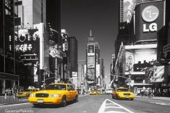 Times Square, New York (Yellow Cab) - plakat