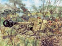 Italeri Pak 40 At Gun With Servants