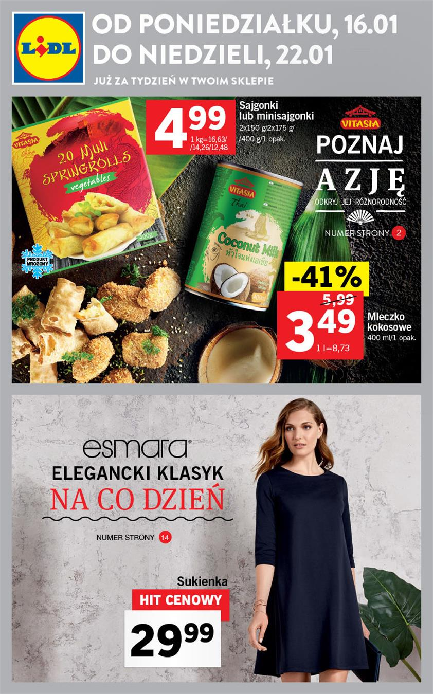 Gazetka Lidl Polska Sp. z o.o. nr 3 od 2017-01-16 do 2017-01-22
