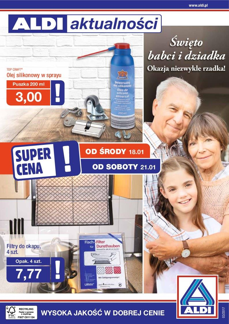 Gazetka ALDI SP Z O O  nr 1 od 2017-01-18 do 2017-01-24