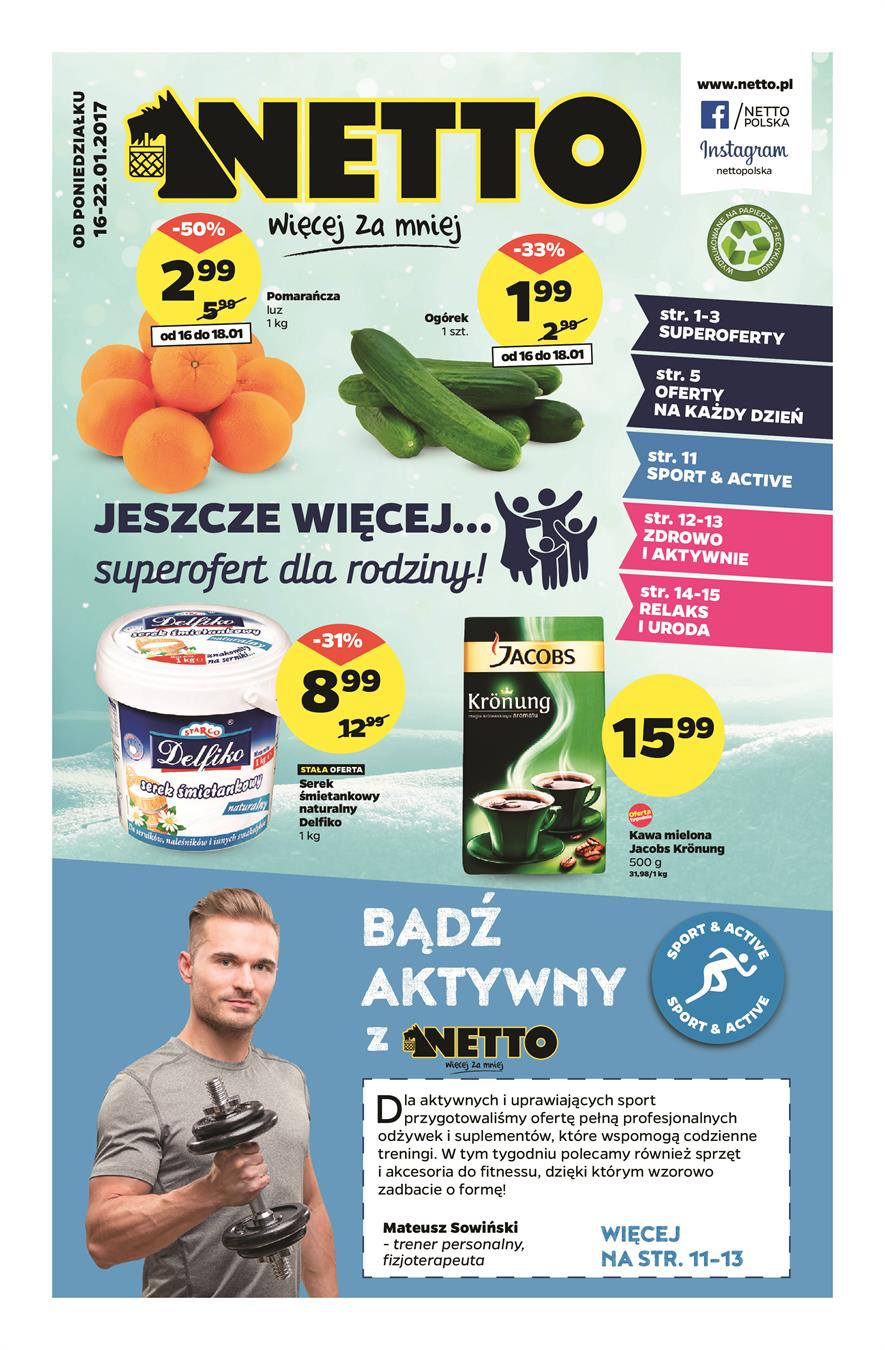 Gazetka Netto Sp. z o.o. nr 2 od 2017-01-16 do 2017-01-22