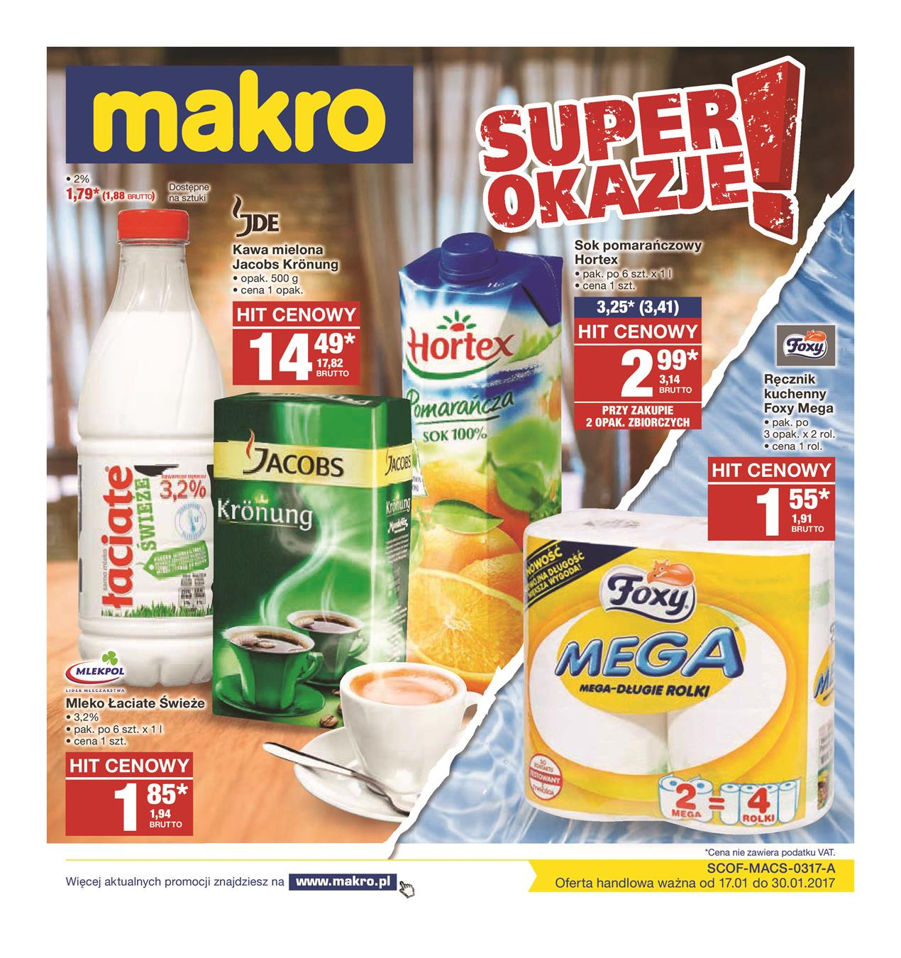 Gazetka MAKRO CASH AND CARRY POLSKA S A nr 1 od 2017-01-17 do 2017-01-30