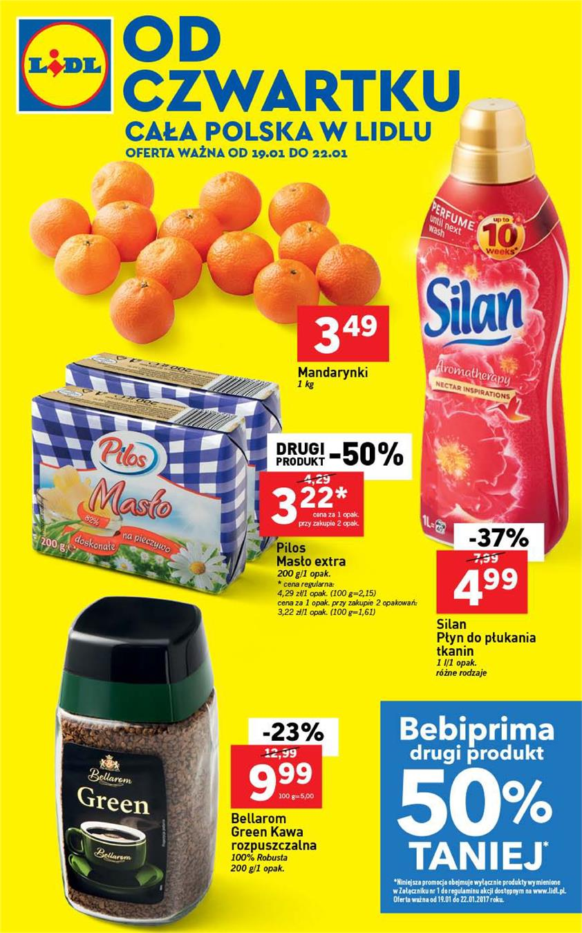 Gazetka Lidl Polska Sp. z o.o. nr 2 od 2017-01-19 do 2017-01-22