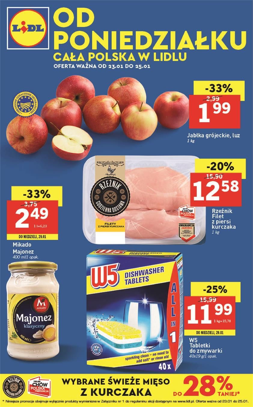Gazetka Lidl Polska Sp. z o.o. nr 4 od 2017-01-23 do 2017-01-25