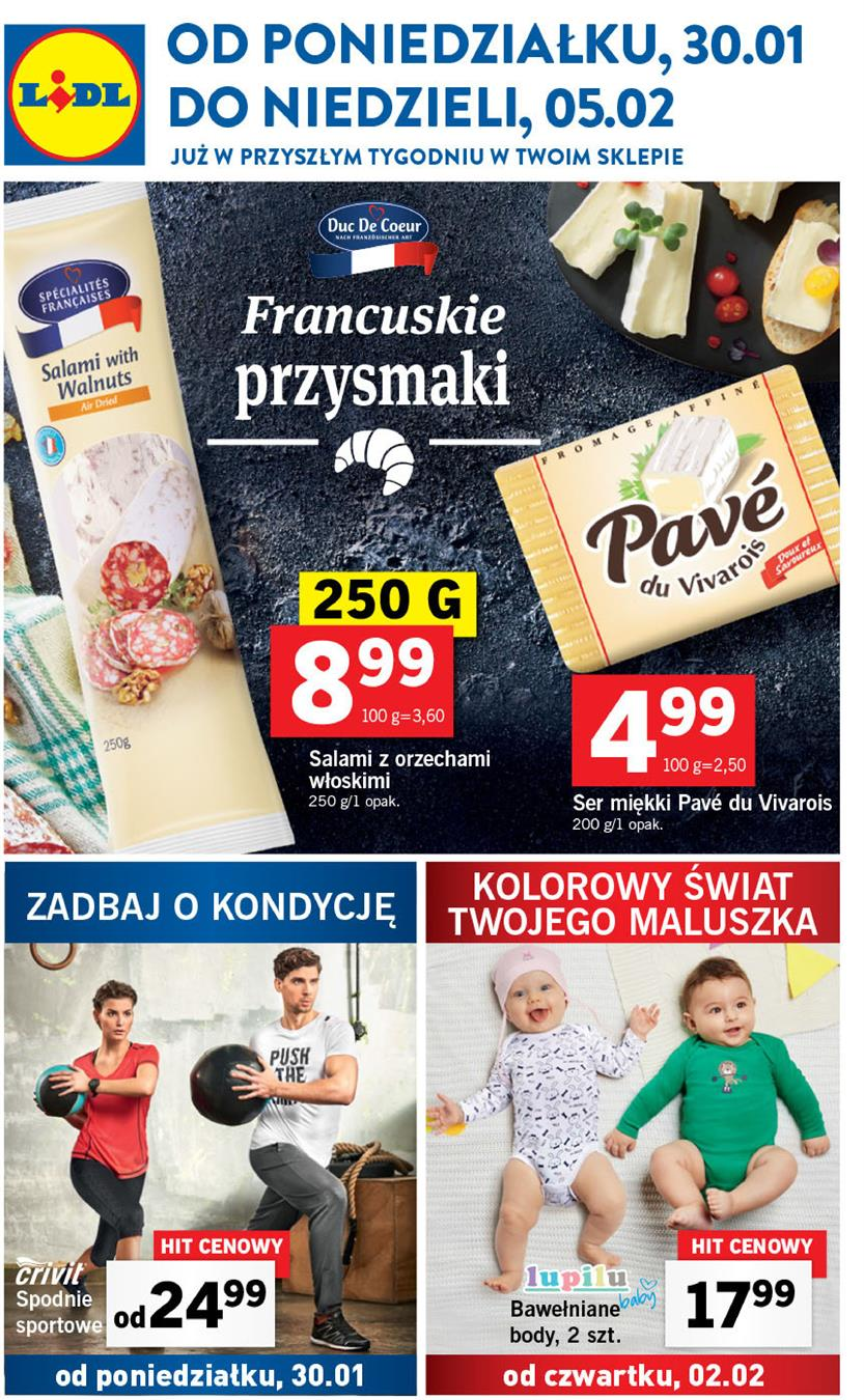 Gazetka Lidl Polska Sp. z o.o. nr 1 od 2017-01-30 do 2017-02-05