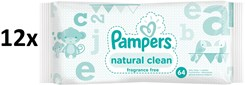 Pampers Natural Clean 12x64szt.