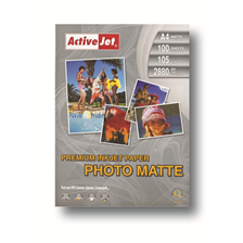 ACTIVEJET PAPIER PHOTO MAT PREMIUM A4 100SZT 105G (AP4-105M100)