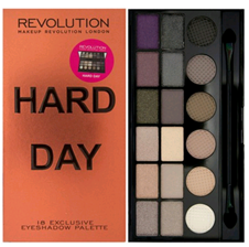 Makeup Revolution Palette Hard Day Paleta cieni do powiek 18 odcieni