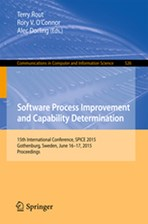 Software Process Improvement and Capability Determination: 15th International Conference, Spice 2015, Gothenburg, Sweden, June 16-17, 2015. Proceeding