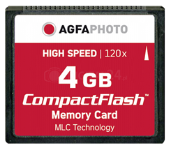 AgfaPhoto CompactFlash 4GB High Speed 120x MLC