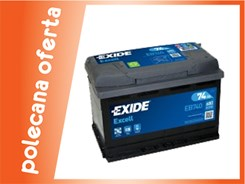 EXIDE EXCELL EB740 - 74Ah 680A P+