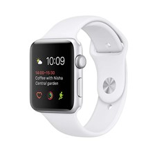 Apple Watch 2 42/Silver Aluminium/White Sport Band MNPJ2MPA