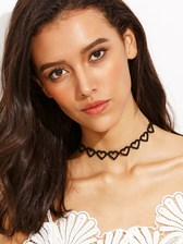 Black Heart Cutout Choker
