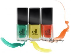 ELF zestaw 3 lakierów do paznokci 3810 BEAUTIFULLY BRIGHT NAIL POLISH SET