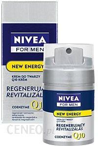 Kosmetyki do pielęgnacji twarzy dla mężczyzny Nivea for Men Krem Q10 Energy Crem 50ml - Opinie i ceny na Ceneo.pl