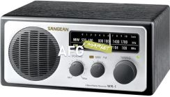 Sangean WR-1 Analogue Radio, Silver (WR1ZIL)