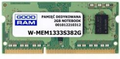 Goodram 1x 2GB SODIMM DDR3 1333MHz PC3-10600S (W-MEM1333S38/2G)