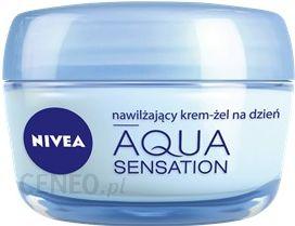 Krem do twarzy NIVEA Aqua Sensation Nawilżający Krem Żel na Dzień 50 ml Przeciw Oznakom zmęczenia - Opinie i ceny na Ceneo.pl