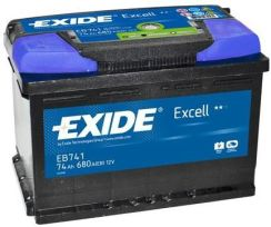 Exide Eb604 60Ah/390A Excell (P+)