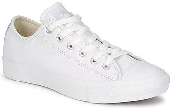 Converse Buty ALL STAR MONOCHROME CUIR OX White