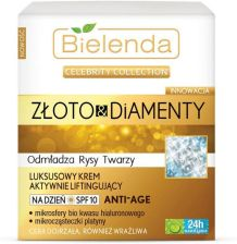 Bielenda Celebrity Collection złoto Diamenty Krem na dzień aktywnie liftingujący 50ml