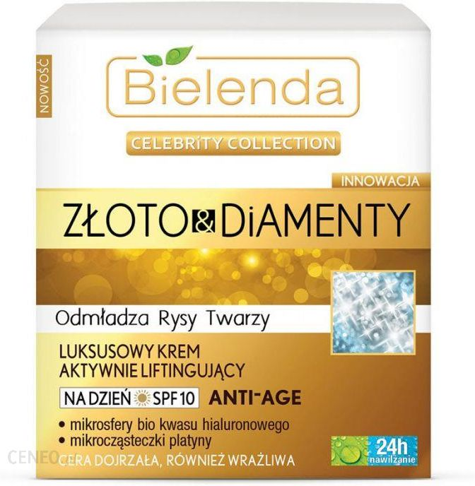 Bielenda Celebrity Collection złoto Diamenty Krem na dzień aktywnie liftingujący 50 ml