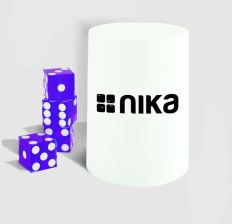 Mr. Dice Zestaw Do Gry Nika Purple Dice Stacking