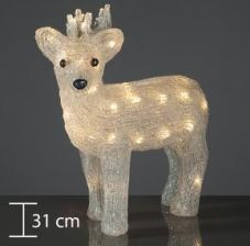 Hellum LED Reindeer warm white 575224