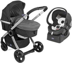 Chicco Urban Plus Anthracite Głęboko Spacerowy + Fotelik Auto Fix Fast + Baza