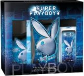 Playboy Super Man zestaw męski /Dezodorant w szkle 75 ml+Dezodorant spray 150 ml+Żel pod prysznic 250 ml/