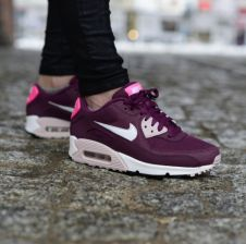 Womens Nike Air Max 90 Essential Villain Red Champaign Pink Pow Athletic Sneakers Running Shoes 616730 600 616730 600