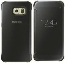 Samsung Clear View Cover do Galaxy S6 Czarny (EF-ZG920BBEGWW)