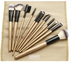 Lancrone Sunshade Make-Up Studio Professional Limited Edition Brush Set Zestaw 12 Pędzli Do Makijażu Twarzy I Oczu
