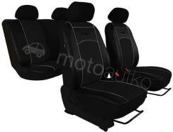 POK-TER Pokrowce samochodowe uniwersalne Eko-skóra Czarne Toyota Camry III 1991-1996 - Czarny