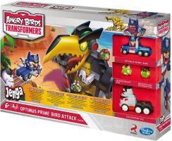 Angry Birds Transformers Jenga Optimus Prime Attack