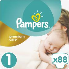 Pampers Premium Care 1 NEWBORN 88 szt. (2-5 kg) VALUE pack - zdjęcie 1
