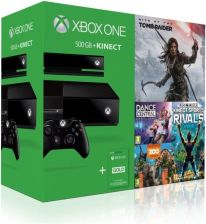 Microsoft Xbox One 500GB + Kinect + Rise of The Tomb Raider + Dance Central Spotlight + Kinect Sport Rivals + Zoo Tycoon