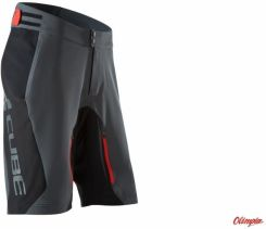 Spodenki rowerowe CUBE BLACKLINE Shorts Black/Grey/Red