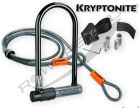 Kryptonite U-Lock, Kryptolok Series2 + Linka Kryptoflex 10Mm/120 Z Uchwytem