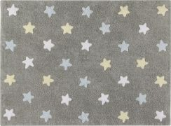 Lorena Canals Tricolor Stars Grey Blue Dywan 120 X 160 cm