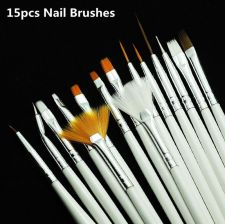Nail Art Brushes Set,15pcs White Decorations - Aliexpress