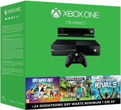 Microsoft Xbox One 1TB + Kinect + Sports Rivals + Just Dance 2017 + Minecraft