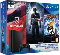 PlayStation 4 Slim 1TB + DriveClub + Uncharted 4 + Ratchet & Clank