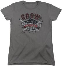 Sons Of Anarchy Custom Eat Moe Crow Women's 18/1 100% Cotton Short-Sleeve T-Shirt - zdjęcie 1