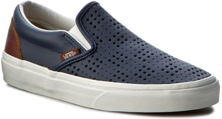 Tenisówki VANS - Classic Slip-On VN0A38F7MU3 (Leather Perf) Dress Blue